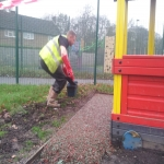 Rubberised Mulch Repairs in Abertridwr 4
