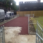 Rubberised Mulch Repairs in Abbey Yard 6