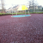 Rubberised Mulch Repairs in Abertridwr 5