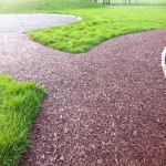 Rubber Mulch for Walkways in Abbey Yard 12