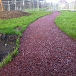 Rubber Mulch for Walkways in Abbey Yard 6