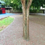 Rubberised Mulch Repairs in Abbey Yard 2