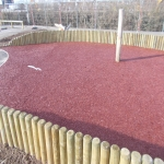 Rubberised Mulch Repairs in Abbey Yard 12