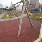 Rubberised Mulch Repairs in Abbey Yard 7